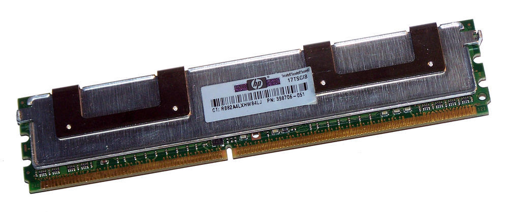 HP 398706-051 Qimonda HYS72T128420EFA-3S-B2 1GB PC2-5300F CL5 Server FB-DIMM | P